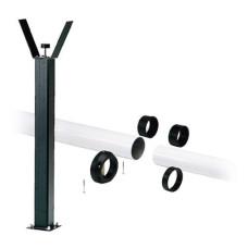 Came ramię aluminiowe tubowe dwuelementowe 120x6200mm + 100x6000mm